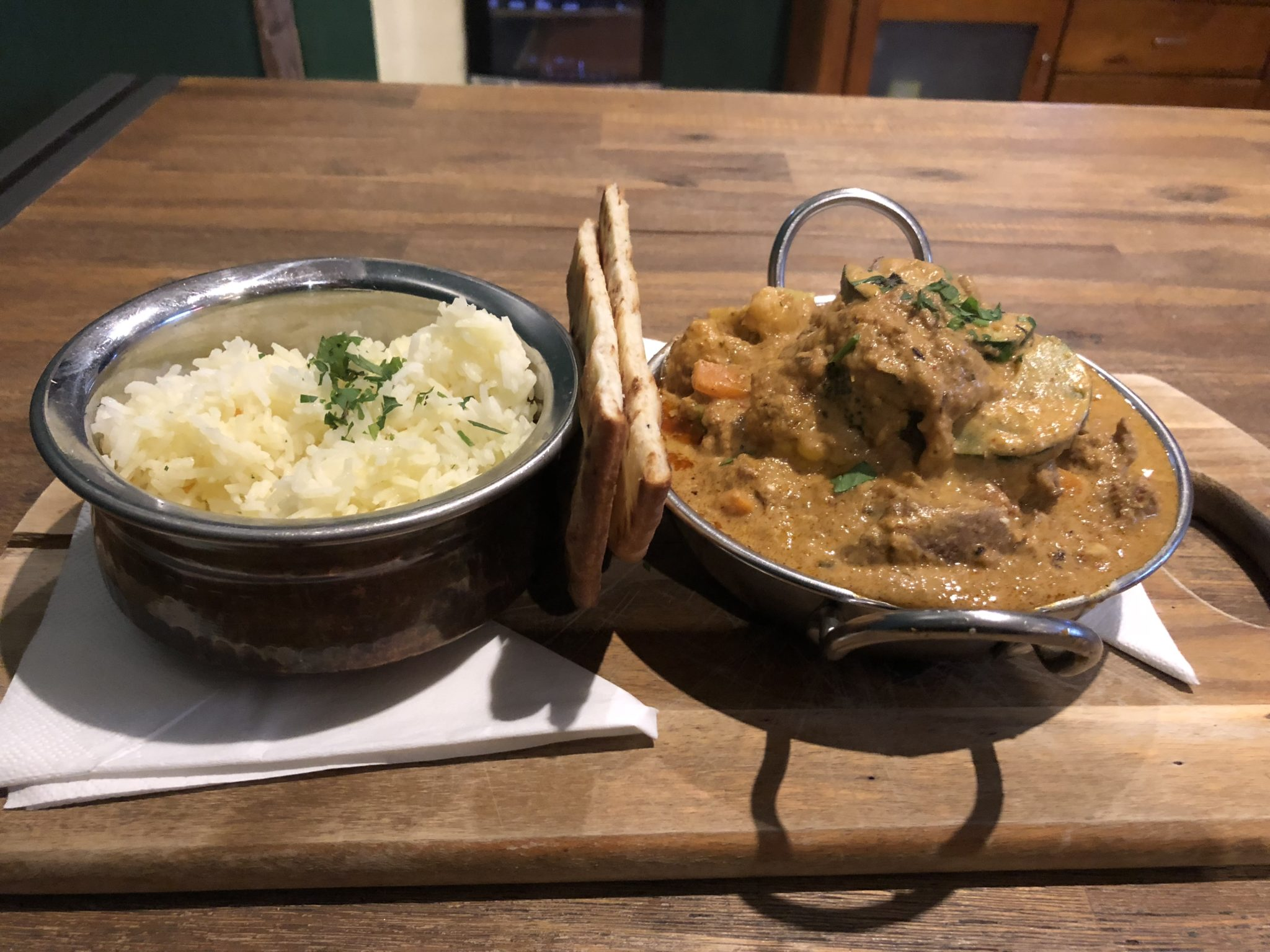 Curry at the Dwellingup Hotel